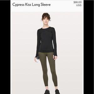 NWT Lululemon Cypress KISS LS Top Black Size 8
